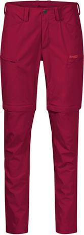 Bergans Utne Zip-Off Pants Women, red