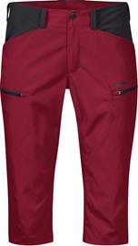 Bergans Utne Pirate Housut Naiset, red/solid charcoal