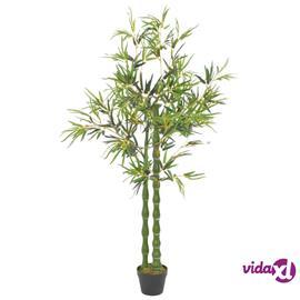 vidaXL Tekokasvi bambu ruukulla vihreä 160 cm