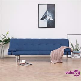 vidaXL Vuodesohva kahdella tyynyllä sininen kangas
