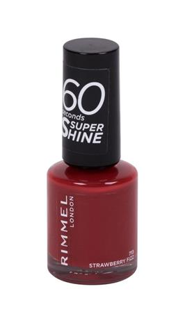 Rimmel London 60 Seconds Super Shine kynsilakka 8 ml, 713 Strawberry Fizz