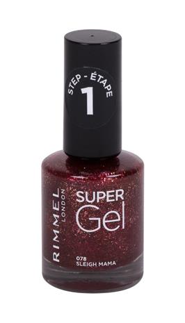 Rimmel London Super Gel STEP1 kynsilakka 12 ml, 078 Sleigh Mama