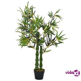 vidaXL Tekokasvi bambu ruukulla vihreä 110 cm