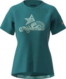 Zimtstern PureFlowz SS Shirt Women, pacific green/ florida keys/living coral