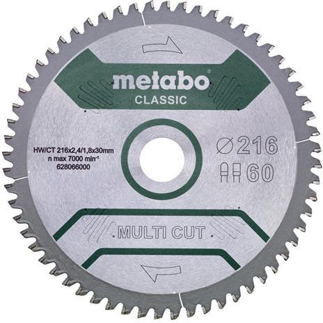 Metabo 628066000 Sahanterä 216x30 mm, 60T