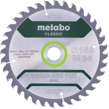 Metabo 628279000 Sahanterä 165x20mm/36T