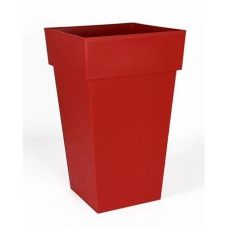 EDA korkean neliön toscanan kukkaruukku - 39 x 39 x H 65 cm - 62 L - rubiininpunainen