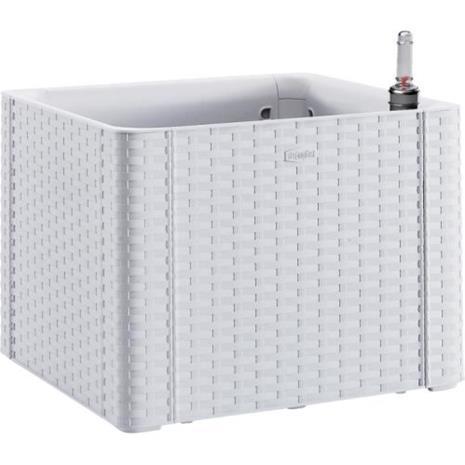 STEFANPLAST Natural Deluxe -kukkakukkarasia - 43x43xH33cm - 35 + 2L varastossa - valkoinen