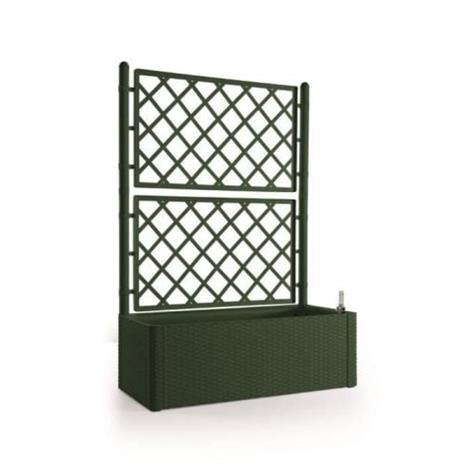STEFANPLAST Natural Delux -suorakulmainen kukkalaatikko säleiköllä - 100 x 43 x 142 cm - 90 + 6,5 l varastossa - mänty vihreä