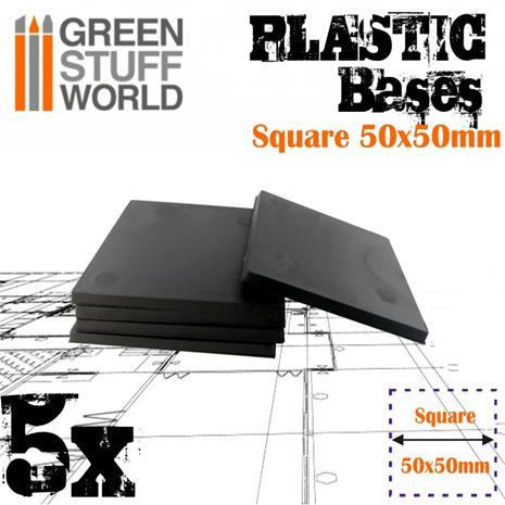GSW Plastic Square Bases 50x50mm