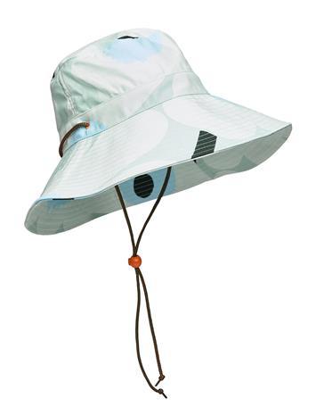 Marimekko Adolina Pieni Unikko Hat Accessories Headwear Bucket Hats Vihreä Marimekko LIGHT TURQUOISE,BLUE,GREEN