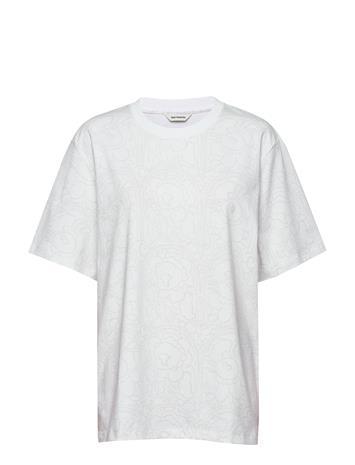 Marimekko Hilla Pieni Karuselli T-shirts & Tops Short-sleeved Valkoinen Marimekko WHITE, WHITE
