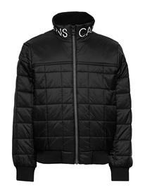 Calvin Klein Square Quilt Light Jacket Toppatakki Musta Calvin Klein CK BLACK