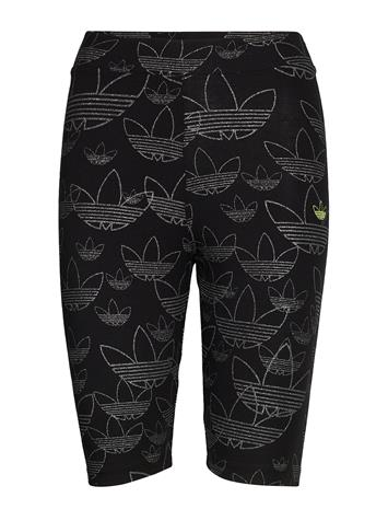 adidas Originals Aop Short Tight Shorts Sport Shorts Musta Adidas Originals BLACK