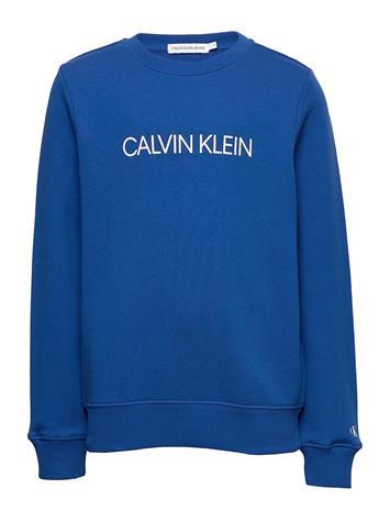 Calvin Klein Institutional Logo Sweatshirt Svetari Collegepaita Sininen Calvin Klein COBALT