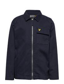 Lyle & Scott Junior Oxford Long Sleeve Shirt Navy Blazer Bleiseri Sininen Lyle & Scott Junior NAVY BLAZER
