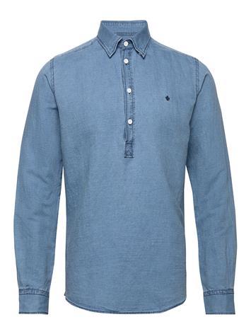Morris Harold Pop-Over B.U. Shirt Paita Rento Casual Sininen Morris BLUE