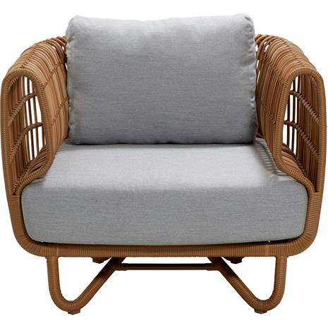 Cane-line Cane-line-Nest Armchair Outdoor, Nature / Light Grey