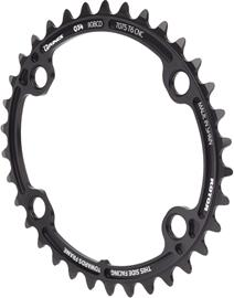 Rotor Oval Chainring for ALDHU/Shimano, black