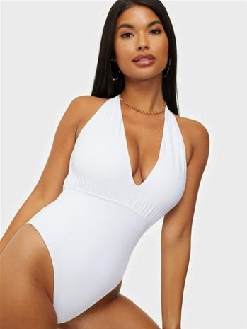 Missguided One Shoulder Gathered Swimsuit
