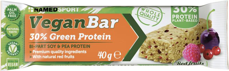 NAMEDSPORT Vegan Protein Bar Box 24 x 40g, Red Fruit
