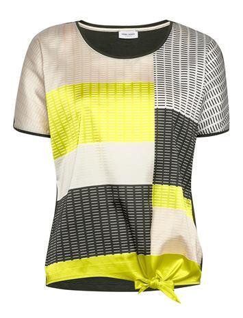 Gerry Weber T-Shirt Short-Sleeve Blouses Short-sleeved Monivärinen/Kuvioitu Gerry Weber ECRU/DEEP FOREST/LIME PRINT