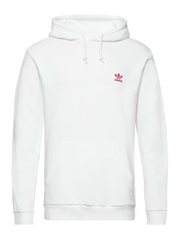 adidas Originals Essential Hoody Huppari Valkoinen Adidas Originals WHITE/SCARLE