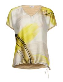 Gerry Weber T-Shirt Short-Sleeve T-shirts & Tops Short-sleeved Keltainen Gerry Weber ECRU/DEEP FOREST/LIME PRINT