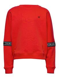 Calvin Klein Logo Tape Sweatshirt Svetari Collegepaita Punainen Calvin Klein FIERCE RED