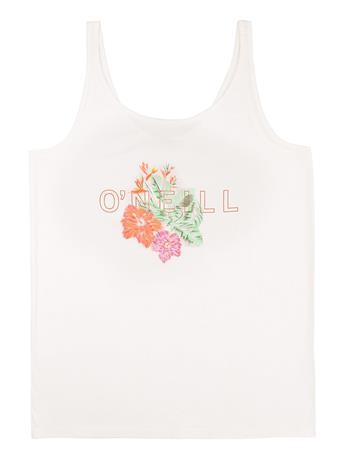 O'Neill Ariana Graphic Tank Top powder white Naiset