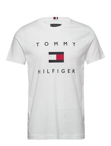 Tommy Hilfiger Tommy Flag Hilfiger Tee Lyhythihainen Paita Valkoinen Tommy Hilfiger WHITE