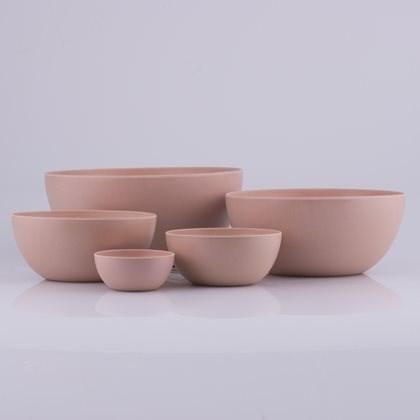 Bahne & Co Kulhosetti bambumelamiini vaaleanpunainen 5 osaa H29,5-25-20-15-10 cm