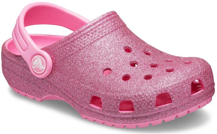 Crocs Classic Glitter Clog, Pink Lemonade, 22-23