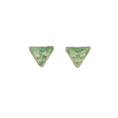 Silver Bar Opal-vihreä kolmio korvakorut