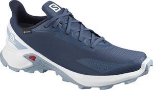 Salomon Alphacross Blast GTX Shoes Men, dark denim/white/ashley blue