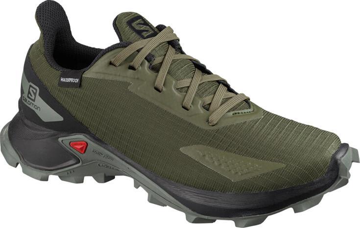 Salomon Alphacross Blast CSWP Shoes Kids, olive night/black/castor gray