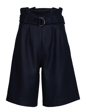 Ganni Wool Bermudashortsit Shortsit Sininen Ganni SKY CAPTAIN