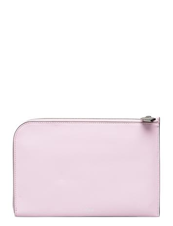 Ganni Pouch Leather Bags Clutches Vaaleanpunainen Ganni CHERRY BLOSSOM