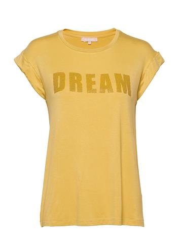 Soft Rebels Dreamer T-Shirt T-shirts & Tops Short-sleeved Keltainen Soft Rebels RATTAN