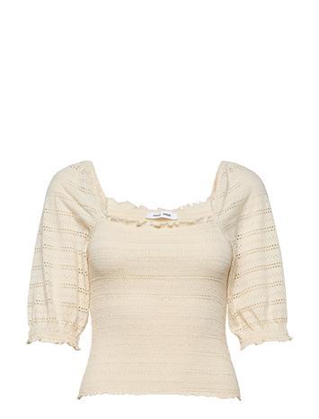 Samsä¸e Samsä¸e Pia Blouse 12704 T-shirts & Tops Long-sleeved Kermanvärinen Samsä¸e Samsä¸e WARM WHITE