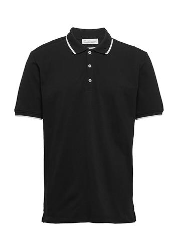 By Garment Makers Stefan Polos Short-sleeved Musta By Garment Makers 1204 JET BLACK