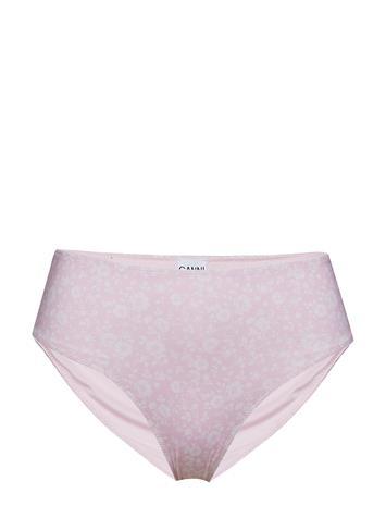 Ganni Highrise Bikini Briefs Bikinialaosa Vaaleanpunainen Ganni CHERRY BLOSSOM