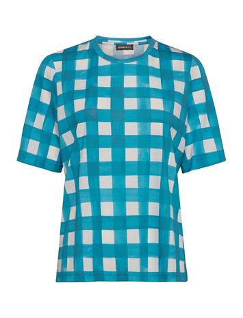 STINE GOYA Leonie, 840 Allover Tee T-shirts & Tops Short-sleeved Sininen STINE GOYA GINGHAM