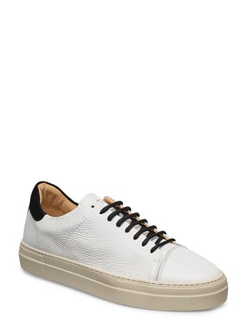 Jim Rickey Pulp Cap Toe - Tumbled Leather / Suede Matalavartiset Sneakerit Tennarit Valkoinen Jim Rickey WHITE/BLACK
