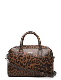 Ganni Top Handle Bag Leather Bags Top Handle Bags Ruskea Ganni TOFFEE