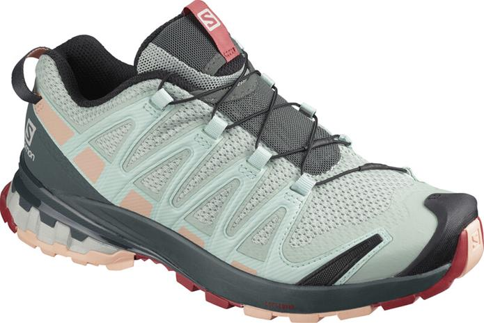 Salomon XA Pro 3D v8 Shoes Women, aqua gray/urban chic/tropical peach