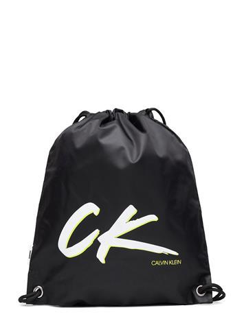 Calvin Klein Drawstring Backpack Accessories Bags Backpacks Musta Calvin Klein PVH BLACK