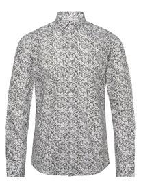 Calvin Klein Camo Print Stretch Slim Shirt Paita Bisnes Vihreä Calvin Klein OLIVE