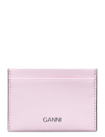 Ganni Card Holder Leather Bags Card Holders & Wallets Card Holder Vaaleanpunainen Ganni CHERRY BLOSSOM