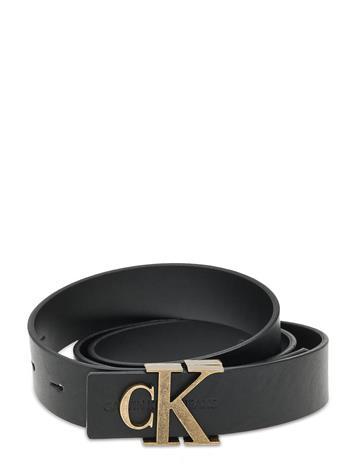Calvin Klein Ckj Mono Hardware Rev 30mm Vyö Musta Calvin Klein BLACK